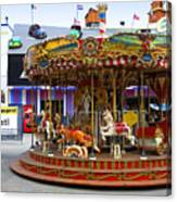 Merry-go-round At The Prater Canvas Print