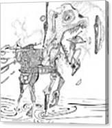 Merry-go-round Horse Canvas Print