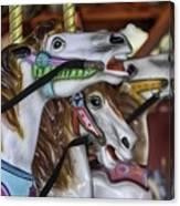Merry Go Round Horses Canvas Print