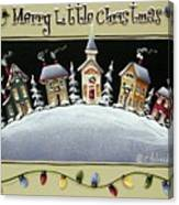 Merry Little Christmas Hill Canvas Print