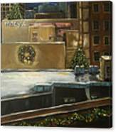 Merry Rooftops Canvas Print