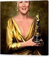 Meryl Streep Winner Canvas Print