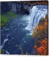 Mesa Falls In The Fall Canvas Print