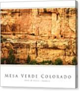 Mesa Verde Colorado Gallery Series Collection Canvas Print