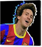 Messi 3498 By Nicholas Nixo Efthimiou Canvas Print