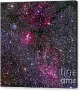 Messier 52 And The Bubble Nebula Canvas Print