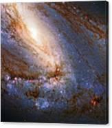 Messier 66 Galaxy Enhanced Canvas Print