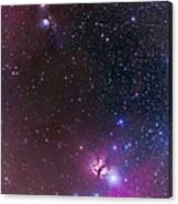 Messier 78 & Horsehead Nebula In Orion Canvas Print