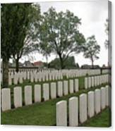 Messines Ridge British Cemetery Canvas Print