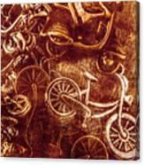 Messy Bike Workshop Canvas Print