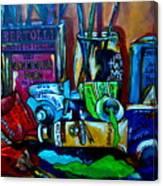 Messy Paints Canvas Print