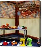Messy Restaurant Canvas Print