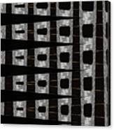 Metal Panel With Holes Abstract Canvas Print