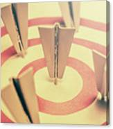 Metal Paper Planes In Target, Business Aims Canvas Print
