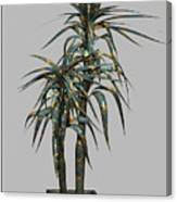 Metal Plant In Pot 4 Canvas Print