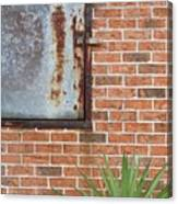 Metal, Rust And Brick Canvas Print