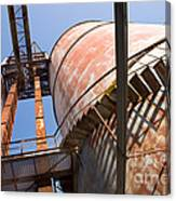 Metal Silos Canvas Print