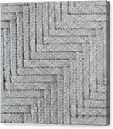 Metallic Grey Rope Weaved Pattern Canvas Print