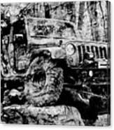 Metallic Jeep Jku Wrangler Canvas Print
