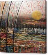Metallic Patches Canvas Print