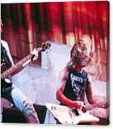 Metallica 1986 Cliff and James Canvas Print