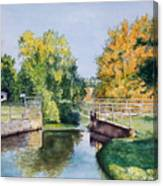 Metamora Canal Canvas Print
