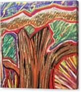 Metamorphosis Of The Great Tree Into Petrified Wood Canvas Print