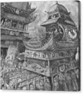 Metamorphosis Stage 2 Of 4 Praise Lord Worm Canvas Print