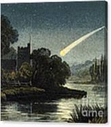 Meteor In Night Sky, 1868 Canvas Print