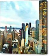 Metro Skyline Canvas Print