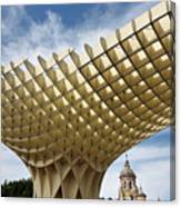 Metropol Parasol At The Plaza Of The Incarnation In Seville Spai Canvas Print