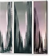 Metropolis Rush Hour Triptych Canvas Print