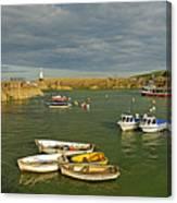 Mevagissey Outer Harbour Canvas Print