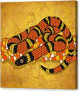 Mexican Candy Corn Snake Canvas Print