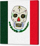 Mexican Flag Of The Dead Canvas Print