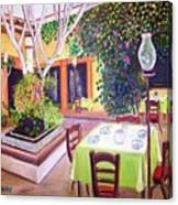Mexican Garden Restaurant Canvas Print