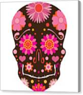 Mexican Skull Art Illustration Canvas Print