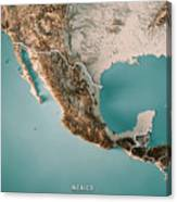Mexico 3d Render Topographic Map Neutral Border