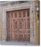 Mexico Door 1 By Tom Ray Canvas Print