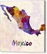 Mexico In Watercolor Canvas Print