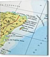 Mexico Map Canvas Print