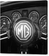 Mg Midget Dashboard Canvas Print