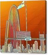 Mhh Bridge Abstract Canvas Print