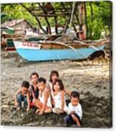 Mia-gao Fishing Children 1 Canvas Print
