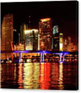 Miami At Night -2 Canvas Print