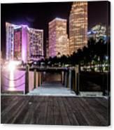 Miami - Bayside Market At Night Canvas Print