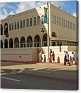 Miami Beach Synagogue Saturday Morning Canvas Print