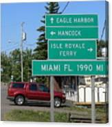 Miami Florida 1990 Miles Us41 Canvas Print