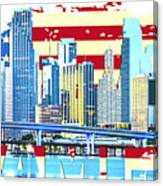 Miami Florida City Skyline Canvas Print