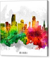 Miami Florida Cityscape 12 Canvas Print